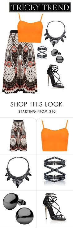 """""""Orange Culotte Outfit"""" by kokoj ❤ liked on Polyvore featuring Temperley London, WearAll, Eva Fehren, Dolce&Gabbana, TrickyTrend and culottes"""