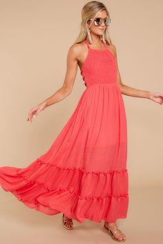 Dresses - Women's Outfits for Sale - Shop Red Dress Boutique Coral Maxi Dresses, Beautiful Maxi Dresses, Pink Maxi, Casual Dresses, Summer Dresses, Formal Dresses, Unique Dresses, Pretty Dresses, Summer Outfits