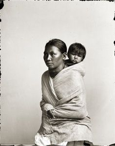 Ho-Chunk Woman and Child by Henry Hamilton Bennett. ~ my ancestry on my mother's father's side. Native American Wisdom, Native American Women, Native American History, Native American Indians, Native Americans, Native Child, Native Indian, First Nations, Baby Wearing