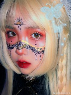 Angel Aesthetic, Chibi Girl, Aesthetic Makeup, Beautiful Person, Ulzzang Girl, Face Art, Girl Group, Halloween Face Makeup, Girly