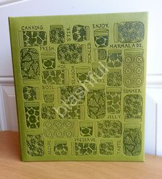 CR Gibson Green Leather Bound HOMEMADE PANTRY Pocket Page Recipe Book Organizer  #CRGibson