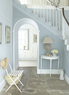 'Bone China Blue' Family by Little Greene paint. #verf