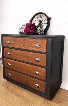 Antique Chest Of Drawers 1930- Walnut After Renovation Rare Dresser