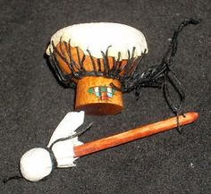 Miniature Native American Indian Style Kettle Drum 1:12 Nantasy Fantasy | eBay