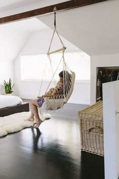 Superbe This Bohemian Hanging Chair Is A Great Place To Hold Your Little One. I  Would Give Anything To Have This In My House!
