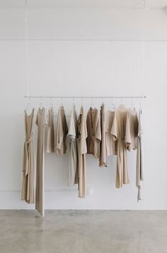 Clean, neutral boutique studio for wardrobe. Product presentation. Blog Milk Blog: Shaina Mote Studio