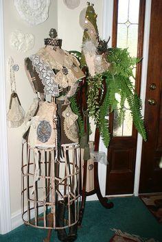"""Vintage Dress Form """"Elizabeth"""" by Sherry's Rose Cottage"""