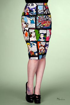 Comic strip pencil skirt from Vanity Project