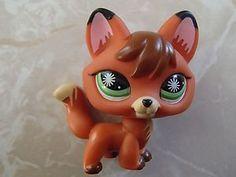 Littlest Pet Shop RARE Black Tip Ear Fox 807 LPS | eBay
