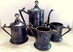 Sheffield Silverplate Coffee serving Set by NewEnglandReflection