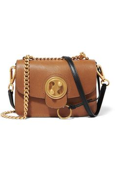 Chloé - Mily Small Textured-leather And Suede Shoulder Bag - Tan