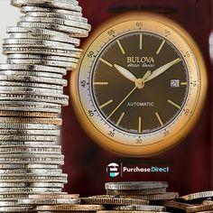 Bulova 64B127 Men's Accu-Swiss Tellaro Gold-Tone Automatic Watch    #watches #mensfashion #menswatches #womenswatches #womensfashion #fashionwatches #fashion #quartzwatches #automaticwatches #chronograph #chronographwatches #stunning #luxury #luxurywatches #timepieces #sale #gifts #giftsforher #giftsforhim #bulova #bulovawatches #friday  #swissmade #swisswatches #swisstimepieces Bulova Mens Watches, Men's Watches, Fashion Watches, Watches For Men, Casual Watches, Watch Sale, Automatic Watch, Quartz Watch, Gold Watch