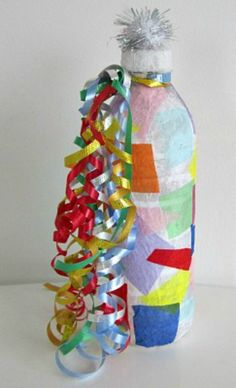 10 New Year's Eve Crafts for Kids! - Things to Make and Do, Crafts and Activities for Kids - The Crafty Crow New Year's Eve Crafts, Holiday Crafts, Holiday Fun, Crafts For Kids, Arts And Crafts, Spring Crafts, Holiday Ideas, New Years With Kids, Kids New Years Eve