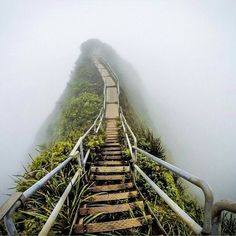 22 truly stunning shots of abandoned places The once popular 'Stairway to Heaven', Oahu, Hawaii Oahu Hawaii, Hawaii Travel, Hawaii Hikes, Haunted Places, Abandoned Places, Abandoned Buildings, Stairway To Heaven Hawaii, Magic Places, Voyager Loin