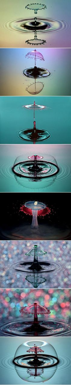 8 water-drop photography works