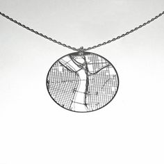 Wow, from fab.com, a map of Portland on necklace and earrings!  way cool!