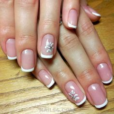 Easy French Nail Design Ideas / Glamour And Feminine Gel Nail Trend Nailart Gel, Gel Nails, French Nail Designs, Nail Art Designs, French Nails, Nail Trends, Winter Nails, Nail Ideas, Design Ideas