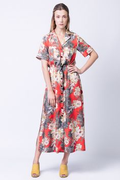 Are you looking for a shirt dress sewing pattern? Check out the Named Clothing Reeta midi shirt dress. Read dressmaking pattern reviews here.