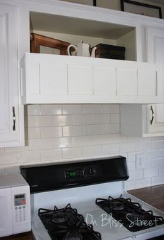 diy built in range hood cover cover your existing hood for 20, diy, how to, kitchen design, repurposing upcycling