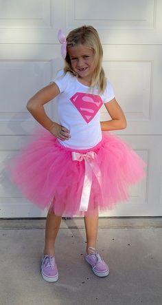 Pink Supergirl Costume-