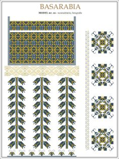Semne Cusute: iie din BASARABIA - model (10) Embroidery Sampler, Folk Embroidery, Learn Embroidery, Embroidery Patterns, Cross Stitch Floss, Cross Stitch Patterns, Cross Stitch Cushion, Beading Patterns, Pattern Design