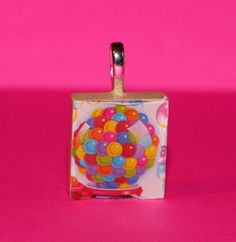Lisa Frank Scrabble Tile pendant!