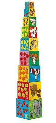 NEW Djeco / My Friends Nesting & Stacking Cubes FREE SHIPPING