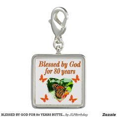 BLESSED BY GOD FOR 80 YEARS BUTTERFLY PHOTO Enjoy our uplifting and inspiring selection of 80th birthday jewelry. 15% Off Sitewide Use Code: BESTBIZCARDZ http://www.zazzle.com/jlpbirthday/gifts?cg=196105095260308256&rf=238246180177746410  #80thbirthday #80yearsold #Happy80thbirthday #80thbirthdaygift #80thbirthdayidea #80yroldChristian  #happy80th #Blessed80th #80thjewelry