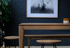 The Ethnicraft Bok dining table in oak