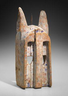 Dogon rabbit mask (walu), Mali, 20th century (wood, paint, metal)