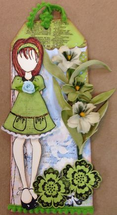 Julie Nutting Doll Tag - Scrapbook.com  Would look great with the heartfelt creations calla lily stamp/dies....