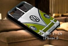 VW Minibus Green for iPhone case-iPhone 4/4s/5/5s/5c case cover-Samsung Galaxy S3/S4/ case cover