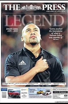 The Press paid tribute to Jonah Lomu after he passed away on Wednesday morning