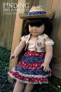 Finding Pins and Needles: American Cowgirl: A doll clothes adventure