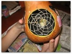 Gourd Art is both contemporary and fun, this is a tutorial on how to make Dream Catcher Gourds.  http://wizzley.com/how-to-make-dreamcatcher-gourds/