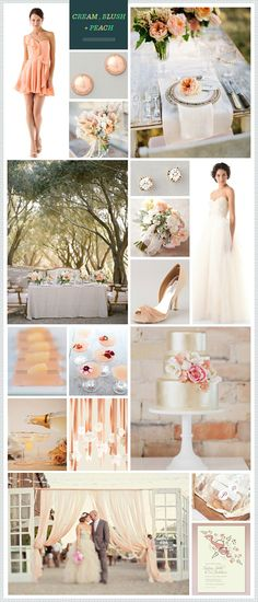 Cream, Blush and Peach. My favorite combo of colors. Would love this for my wedding.
