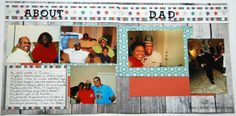 Father's Day Scrapbooking Idea using Creative Memories Fall In paper Pack. This project is featured in the Creative Memories Father's Day Blog Hop. #creativememories #scrapbooking