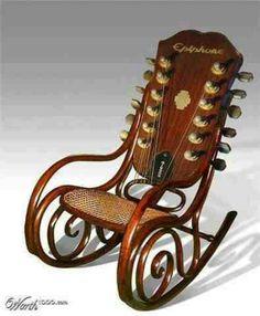 Rocking chair - 12 string guitar headstock - Epiphone.  Nice!