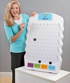 Marketing Holders White Mini Prize Drop Trade Show Plinko Board Game 80005 Direct Sales Games, Plinko Game, Game Booth, Prize Wheel, Unique Gifts For Kids, Prize Giveaway, Game Prizes, Game Google, Vendor Events