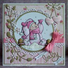 A Scrapjourney: Baby card