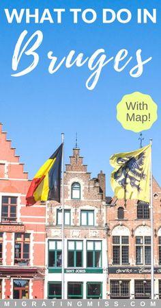 Bruges Map Tourist Attractions TravelBrugge Pinterest