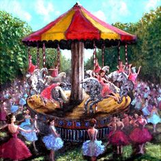 carosel painting | Musical Carousel Painting by Graham Keith - Musical Carousel Fine Art ...