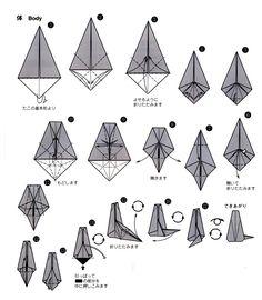 リングフォルダー猫の体の折り方(2)