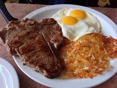 t bone steak and eggs - Google Search