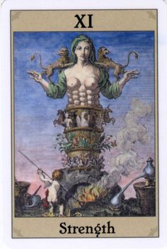 Alchemical Emblem Tarot - Strength