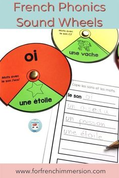 Answer recording sheet in the French phonics literacy center French Language Lessons, Spanish Language Learning, French Lessons, Foreign Language, Spanish Lessons, Reading Words, Guided Reading, Read In French, Phonics Centers