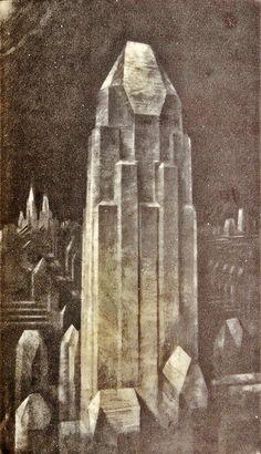 Hugh Ferriss (American, 1889-1962) The Metropolis of Tomorrow, 1929 More Hugh Ferriss
