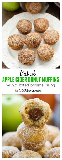 Apple Cider Donut Muffins with a Salted Caramel Filling are so easy to ...