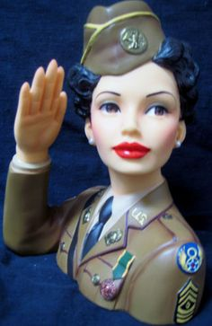 """Cameo Girls - Lady Head Vase - Martina 1942 WWII """"Welcome Attention"""" MIB - RET"""
