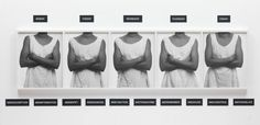 "Lorna Simpson, 'Five Day Forecast' 1991 - ""deploys a staccato devise, a kind of mechanistic action of repetition and differentiation"" - ""deliberately austere"" - black white photos and text. Five Day Forecast, Afro, Simpsons Art, A Level Art, Level 3, Gelatin Silver Print, Photography Courses, Famous Photographers, Black Artists"